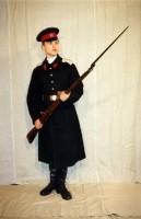 кадет старший роты 3 го Московского императора Александра II кадетского корпуса(в шинели)