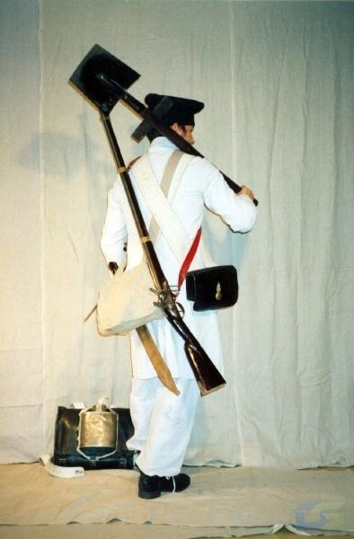 пионер II полка в рабочем сюртуке (на строительстве укреплений)